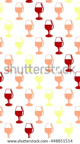 Red, pink and white wine seamless pattern - stock vector