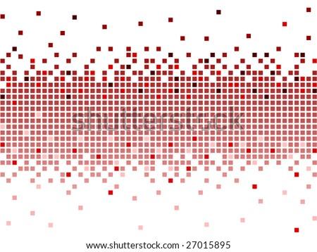 red pixel - stock vector