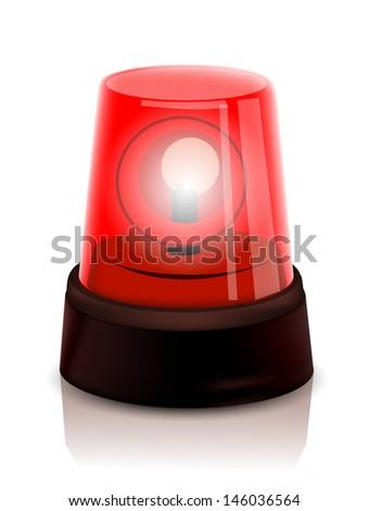 Red Police beacon - stock vector
