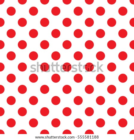 Red polka dot on white background