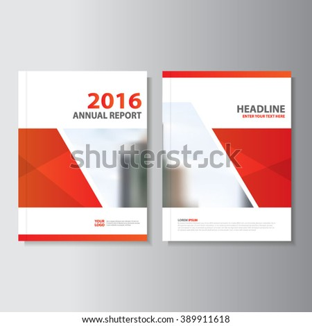 Red polygon Vector annual report Leaflet Brochure Flyer template design, book cover layout design, Abstract red polygon presentation templates - stock vector