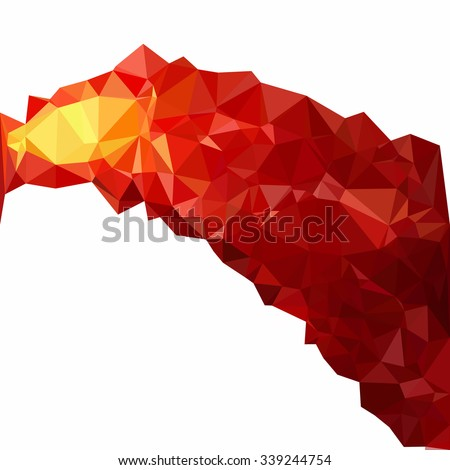 Red Polygonal Mosaic Background, Creative Design Templates - stock vector