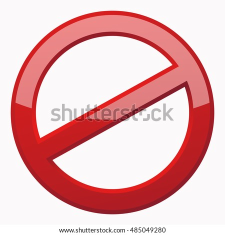 Red Prohibition Sign 3 D Icon White Stock Photo Photo Vector