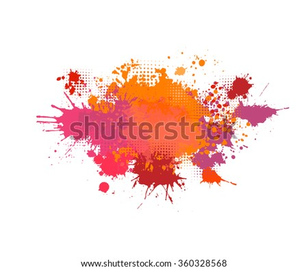 red purple abstract blur of ink spots. Vector - stock vector