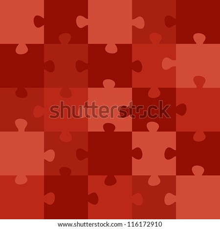 red puzzle. red puzzle concept - stock vector