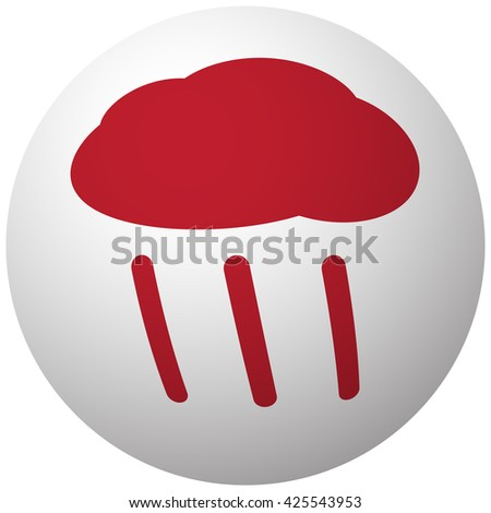 Red Rain icon on white ball