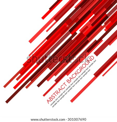Red rectangle bars obliquely vector abstract background