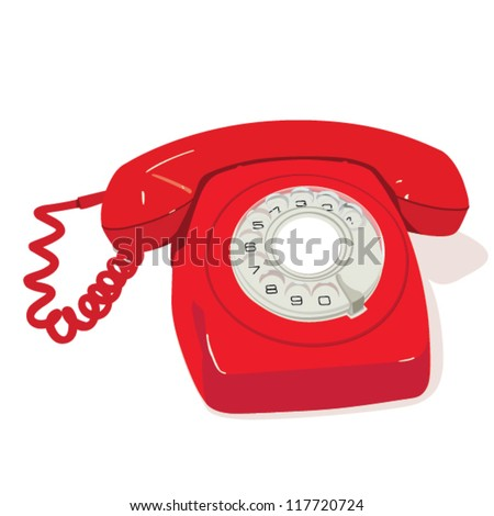 Red retro phone