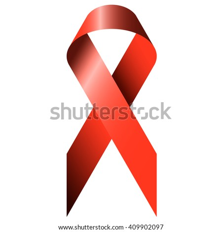 red ribbon as symbolism for world aids day