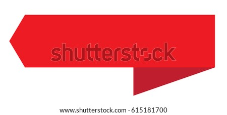 red ribbon banner on white background. red ribbon banner sign.