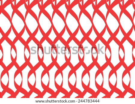 red ribbon flow curves abstract art style background  - stock vector