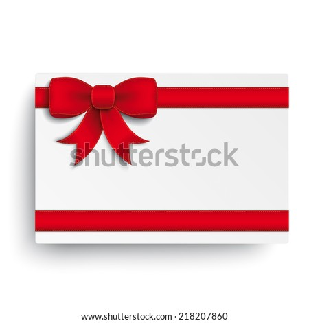 Red ribbon on the white background. Eps 10 vector file. - stock vector