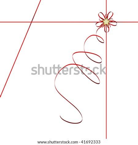 red ribbon - vector illustration - stock vector