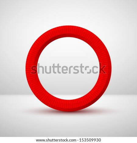 Red ring on white