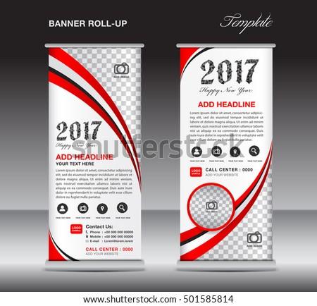 red triangle roll business banner design stock vector 461260702 shutterstock. Black Bedroom Furniture Sets. Home Design Ideas