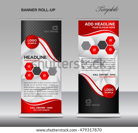 Red Roll Banner Template Vector Roll Stock Vector 479317870 ...