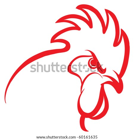 Red rooster design stock vector - Cock designing ...