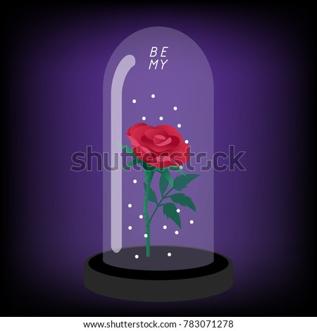 Rose In A Glass Dome Stock Images, Royalty-Free Images ...