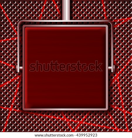 Red screen on a grill background