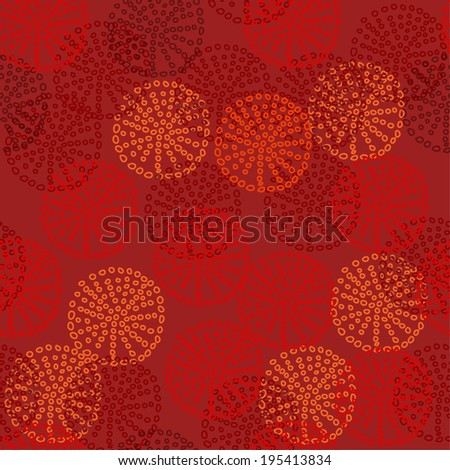 Red seamless circle pattern . Vector illustration