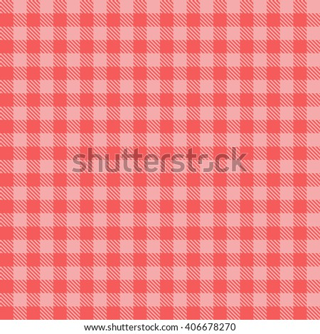 red seamless gingham pattern - stock vector