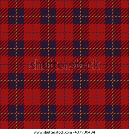 Red Seamless Tartan Plaid Textile Design - stock vector