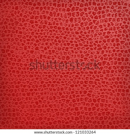 Red seamless vector black leather texture background. - stock vector