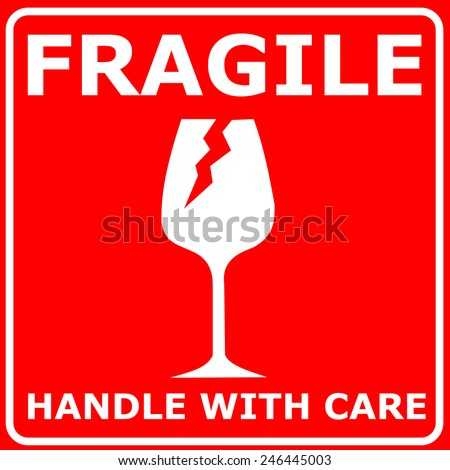 Red Sign FRAGILE Vector Stock Vector (Royalty Free ...