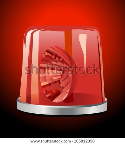 Red siren - stock vector