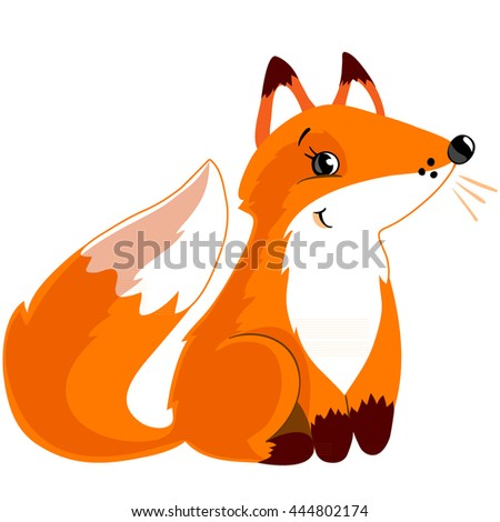 Red sitting fox