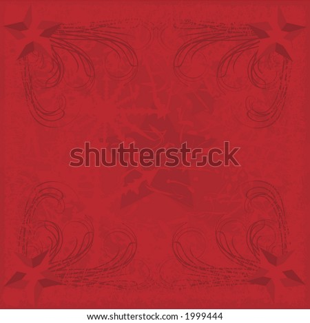 Red snowflakes border background. File contains no gradients