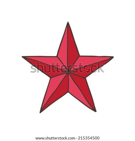 red soviet star - stock vector
