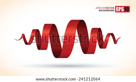 red spiral abstract object - stock vector