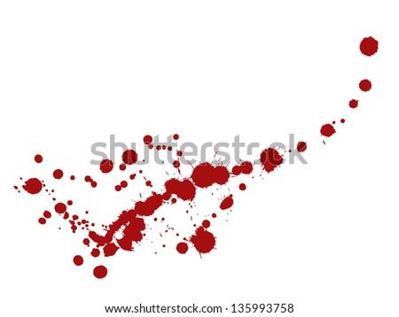 Red splashes. Vector illustration - stock vector