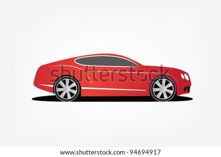 Red Sport Car - stock vector