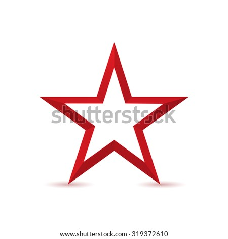 Red Star Logo Icon Isolated On Stock Vector 319372610 Shutterstock