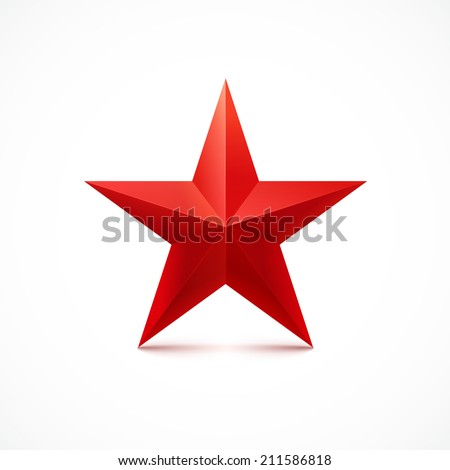 Red star. Vector. - stock vector