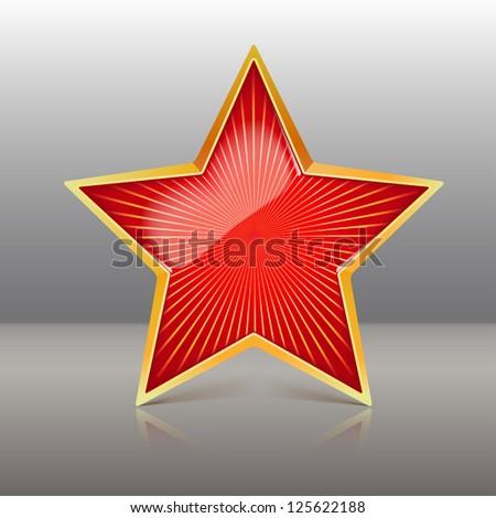 Army Star Vector Red Star Vector Illustration