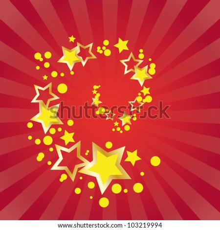 Red stars - stock vector