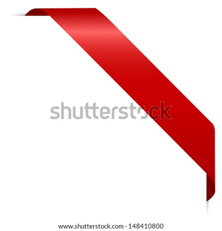 red sticker - stock vector