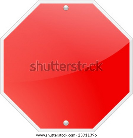 red stop signal - stock vector