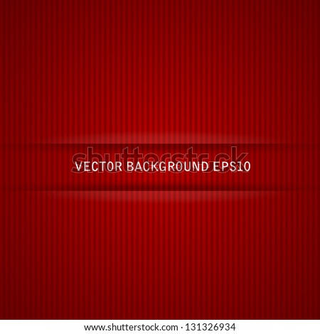 Red strips background and backdrop vector illustration - stock vector