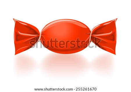 Red sweet candy vector illustration. eps 10 - stock vector