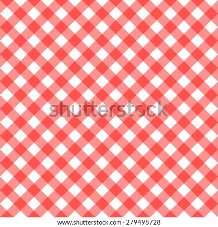 Red Tablecloth Multiply Colors Pattern - stock vector