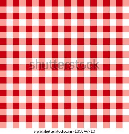 Red tablecloth pattern. - stock vector
