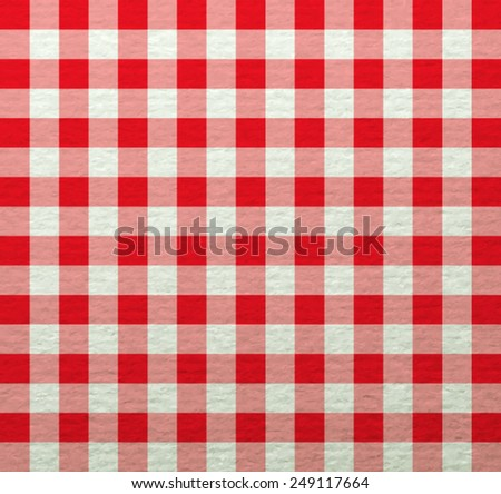 Red  tablecloth. Vector EPS 10 illustration. - stock vector