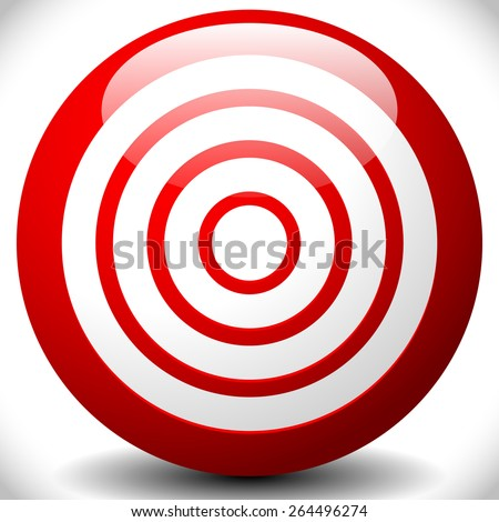 Red Target Graphics / Icon. Concentric Circles - stock vector