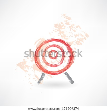 red target grunge icon. - stock vector