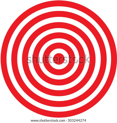 Red target icon on a white background - stock vector