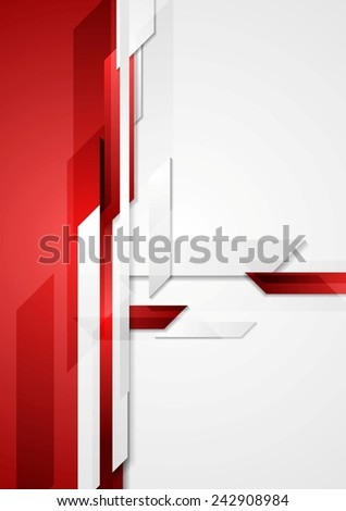 Red tech abstract corporate background. Vector design - stock vector